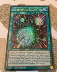 ☆ CYBERDARK REALM - Ultra Rare SDCS-EN023 1st Edition Cyber Strike YuGiOh ☆