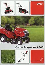 Prospekt MTD 2007 Rasenmäher Mulchmäher Balkenmäher Traktoren Aufsitzmäher