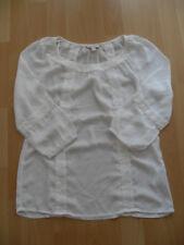 Esprit elegante Bluse mit Stickerei Gr. XS / 32 weiß Neu