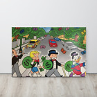 Alec Monopoly Canvas Print Mr Monopoly Richie And Scrooge Road Walking Picture