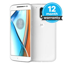 Motorola Moto G4 Plus - 16GB - White (Unlocked) Smartphone Very Good Condition