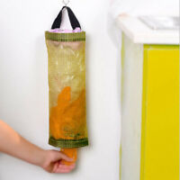 Home Grocery Bag Holder Wall Mount Storage Dispenser Plastic Kitchen Organizer