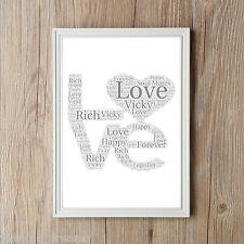 Valentines Love Word Art Boyfriend Girlfriend Lovers Personalised Print