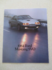 1984 Ford Mustang SVO cars advertising booklet