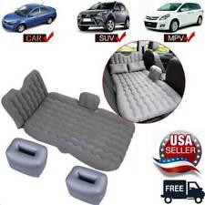 Inflatable Car Mattress Air Bed Rear Seat Travel Sleeping Mat Pads Pillow & Pump