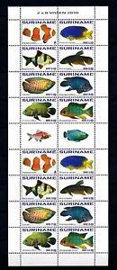 [SUV1756] Suriname Surinam 2010 Fish Fisch Poisson Miniature Sheet with tab MNH