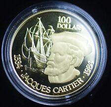 1984 Canada 1/2 Oz Gold 100 Dollar Beautiful Proof Coin - In Presentation Case