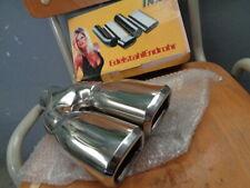 Endrohrblende Auspuffblende, doppelt, Edelstahl 58mm, Abverkauf/Sale