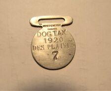1920 Dog Tax tag #7 Des Plaines (Illinois)