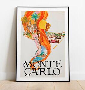 Vintage Monte Carlo Print, Monte Carlo Art Poster, Home Decor, Xmas Gifts