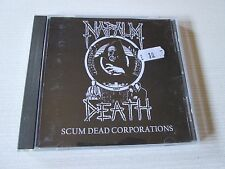 NAPALM DEATH Scum Dead Corporations CD-R GRINDCORE RARE RARITIES SPLITS NO LP