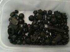 Joblot Of Jet And Other Black Bead Findings AF