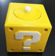 New Official Super Mario Ceramic Cookie Jar Question Mark Block (New in Box)