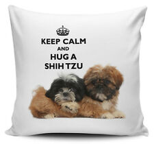 Keep Calm And Hug A Shih Tzu Cushion Cover - 40cm x 40cm