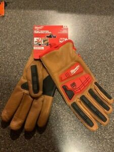 Milwaukee Sz L Level 3 Cut Resistant Goatskin Leather Impact Gloves 48-22-8772