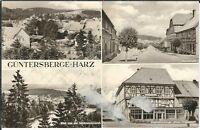 Ansichtskarte Güntersberge/Harz - Marktstraße, Jugendherberge, Schönemannsruh sw