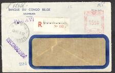 Ruanda-Urundi meter stamp on 1955 registered cover to USA, postmarked USUMBURA