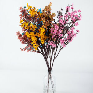 Cherry Blossoms Artificial Flowers Baby's Breath Gypsophila Fake Flowers DIY WFY