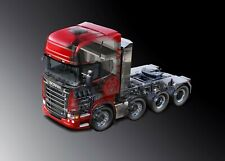 A3 Scania R730 V8 Heavy Haulage Tag Axle Lorry Poster Picture Art Print