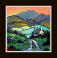 Original BEST Oil Painting Noted Artist James Downie : The Hills and Glens
