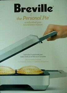 New Breville The Personal Pie Maker Non Stick 4 Individual Pies