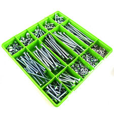 765 Assorted M8 Zinc Cup Square Carriage Bolt Coach Screw Washers Full Nuts Kit