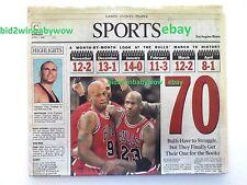 MICHAEL AIR JORDAN DENNIS RODMAN THE WORM CHICAGO BULLS VINTAGE COLLECTABLE NBA