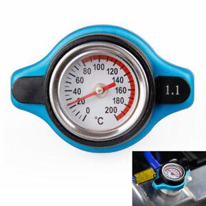 Universal Car Thermost Radiator Cap Cover & Water Temp Gauge Meter 1.1Bar DS