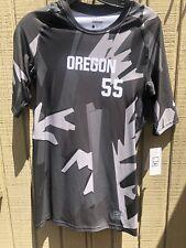 Nike Oregon #55 Compression Training Shirt 1/2 Sleeve Men's Large Grey 889172