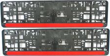 2 Stück Kennzeichenhalter Leiste ROT Nummernschildhalter Kennzeichenträger Satz