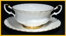 Royal Albert Val D'or Soup Coupe's & Saucers - NEW ! - 1st Quality