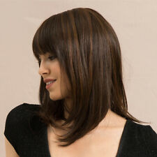 Lace Front Wigs 14inch Straight Hair Replacement Wig - 70% Real Human Hair & 30%