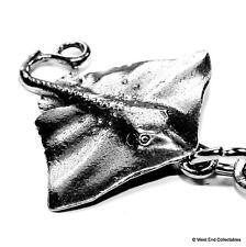 Stingray Fishing Keyring Chain - UK Handmade - Angling Whiptail Manta Ray Fish