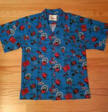 New Vintage Snap On tools Hawaiian camp shirt buttin front Mens Medium 80's 90's