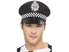 UNISEX POLICE PANDA PAC Stag Do DIVERTENTE UOMO NERO BIANCO uniforme COP cappello Bobby divertente