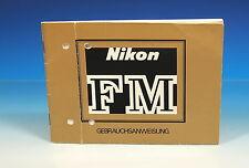 Nikon Fm instructions German manual - (101660)