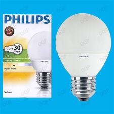 4x 7W Philips CFL Bajo Consumo De Energía larga vida Mini Globo es E27 Lámparas Bombilla 2700K