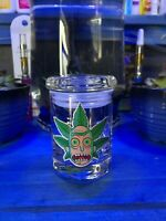 Rick And Morty  Glass Stash Jar Apothecary Prescription Weed Smell Proof