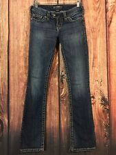 Silver Jeans Tuesday 16 1/2 Low Rise Slim Boot Medium Wash Women's Sz 25 X 33