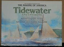 Vintage 1988 National Geographic Map of the Tidewater and Environs