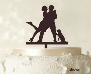 Personalized  Cake Topper Wedding Couple Cake Topper Color-8Gp