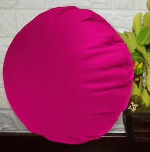 PL06n Deep Fuschia CanvasWater Proof Outdoor Round Shape Cushion Cover Custom