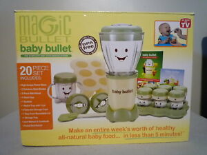 Magic Baby Bullet Food Processor ~ Healthy Food Making System ~ Complete in Box