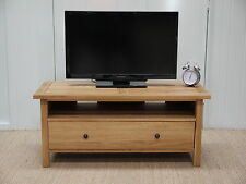 ASHLEY MILTON 100% SOLID OAK LARGE TV TABLE IN STOCK FULLY ASSEMBLED