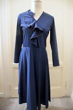 Abito blu vintage vtg navy dress '80s