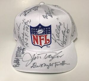 RARE One-of-a-Kind NFL Hall of Famers Signed Cap - 12 Signatures