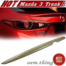 #AU 2018 For Mazda 3 3rd 4D Sedan OE Style Rear Boot Trunk Spoiler Unpainted