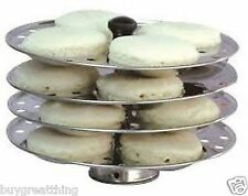 Idli maker 4 piece stainless steel stand Indian cooking tool cookware Best Dish