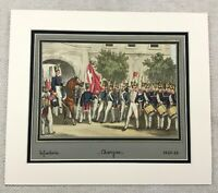 1937 Military Print Swiss Infantry Soldiers on Parade Aargau Switzerland RARE