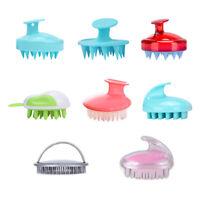 Silicone Scalp Shampoo Massage Brush Washing Massager Shower Head Hair Comb Surp